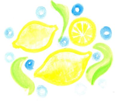 Watercolor painting of lemons