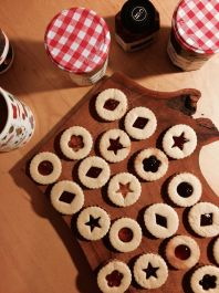Jam cookies for Christmas