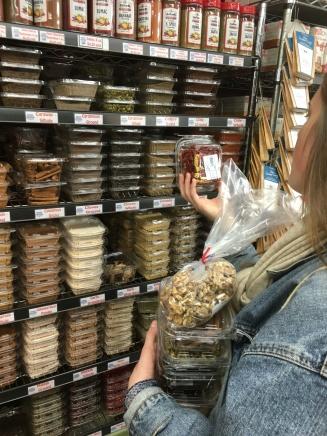 Sahadi grocery shopping in Brooklyn
