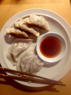 Dumplings with dipping sauce homemade