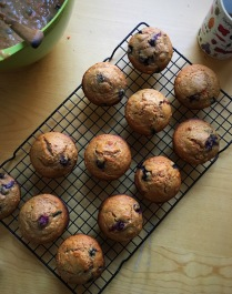 Blueberry muffins recipe by Julia Moskin