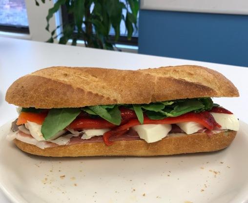 Prosciutto + Mozzarella Sandwich