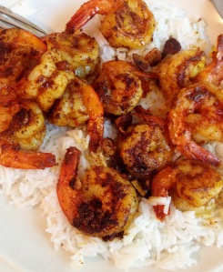 Mark Bittman recipe for shrimp with cumin and paprika on white rice