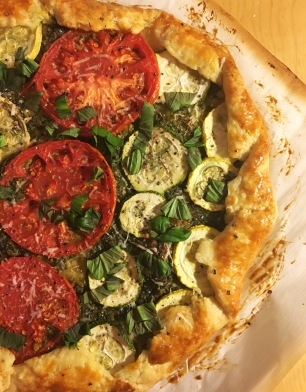 Tomato and zucchini galette perfect for the summer