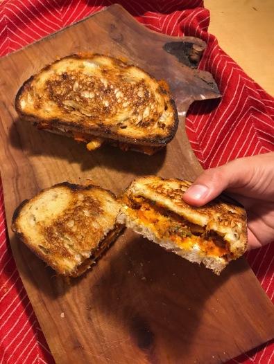 Roasted Squash and Feta Sandwich recipe